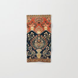 Kashan Poshti  Antique Central Persian Rug Print Hand & Bath Towel