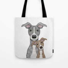 Blue & Fawn Tote Bag