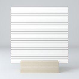 White Black Lines Minimalist Mini Art Print