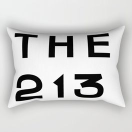 213 California Area Code Typography Rectangular Pillow