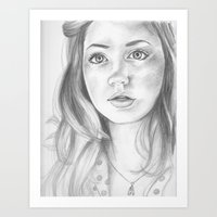 amy pond Art Prints featuring amy pond  by Jill Schell