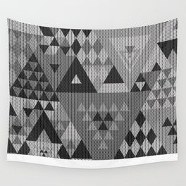 triangle-grayscale-KNIT Wall Tapestry