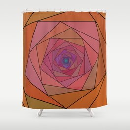 swirling pentagon 1 Shower Curtain