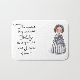 Queen Victoria Inspirational Quote Bath Mat