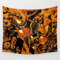 band Wall Tapestries featuring band by borma toyen