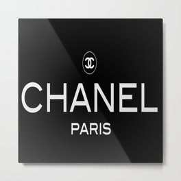 Black Paris Metal Print