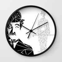 charlie chaplin Wall Clocks featuring CHAPLIN by ARCHIGRAF
