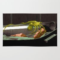 ripley Area & Throw Rugs featuring Alien 3 Ellen Ripley poster by VGPrints