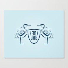 HERON LAKE Canvas Print