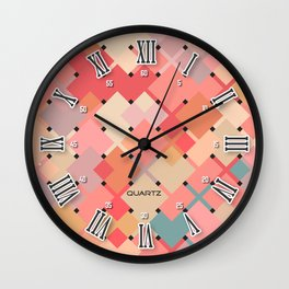 Watch with Roman numerals : trendy modern colors from rectangles Wall Clock