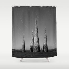 Grey black cones 4 Shower Curtain