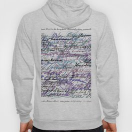 All The Presidents Signatures Blue Rose Hoody