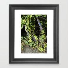The Green Wheel Framed Art Print