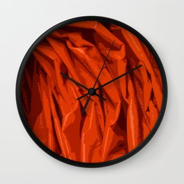 Red Curtain Creases Wall Clock