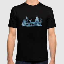 Blue marble abstraction T-shirt