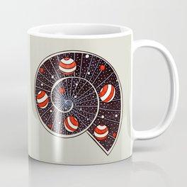 Spiral Galaxy Snail With Beach Ball Planets Coffee Mug