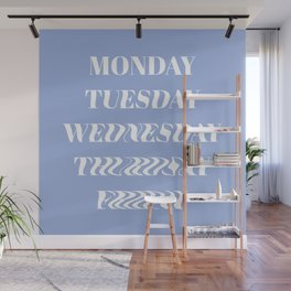 Wavy Days of the Week Wall Mural