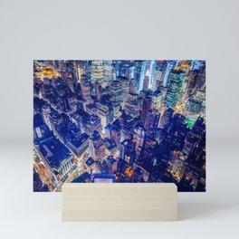 Colorful New York City Skyline Mini Art Print