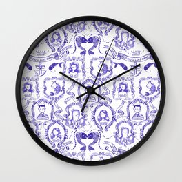 Sailor Hipster Pattern - Nothing like real Friends Sealife Patterns Wall Clock