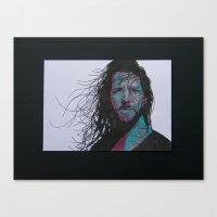 eddie vedder Canvas Prints featuring Eddie Vedder by Lady Lu