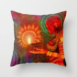 Festival of Lights Throw Pillow