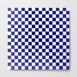 Jumbo Blue and White Australian Racing Flag Checked Checkerboard Metal Print