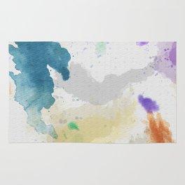 Watercolor Canvas Rug