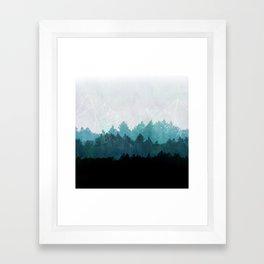 Woods Abstract  Framed Art Print