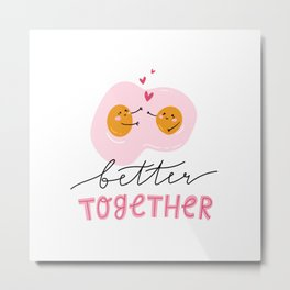 Cute eggs - better together Metal Print