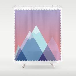 Stamp series - Everest Shower Curtain
