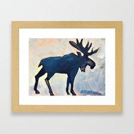 Appreciation - Moose Framed Art Print