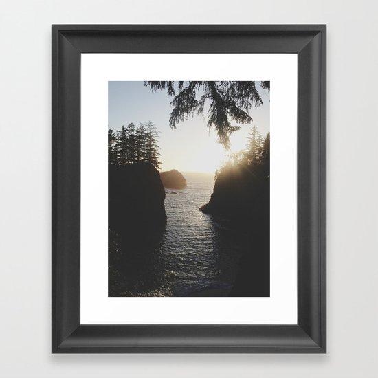 Secret Beach Framed Art Print