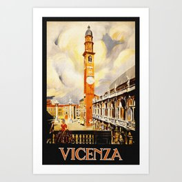 Vintage Vicenza Italy Travel Art Print