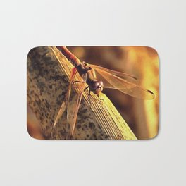 Elegant Red Darter Dragonfly Bath Mat