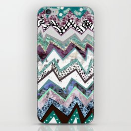 Cool Blues Zigzags Abstract iPhone Skin