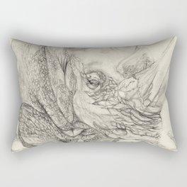 mask of the rhino Rectangular Pillow