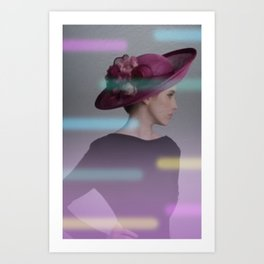 la femme au chapeau 2 Art Print