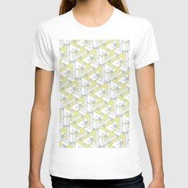Triangle Optical Illusion Lemon Medium T-shirt