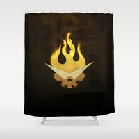 movie poster Shower Curtains featuring Gurren Lagann Movie Poster by 5eth