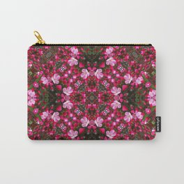 Spring blossoms kaleidoscope - Strawberry Parfait Crabapple Carry-All Pouch