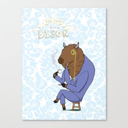 Tea Time with a Bison Canvas Print