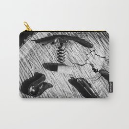 Black and white corkscrew Carry-All Pouch