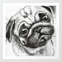 Pug Nº2 Art Print
