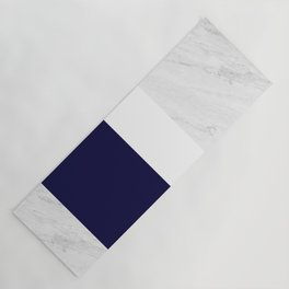 Marble White Royal Blue Yoga Mat