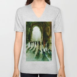 without an end or a beginning  Unisex V-Neck