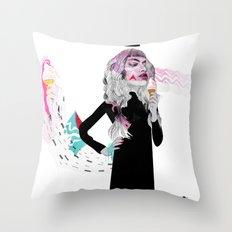 Ice Cream Queen Throw Pillow