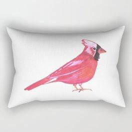 Red Cardinal bird watercolor- Cardinalis cardinalis Rectangular Pillow