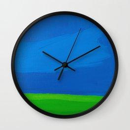 Big Bright Blue Sky Wall Clock