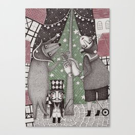 Of Snow and Stars and Christmas Wishes Canvas Print