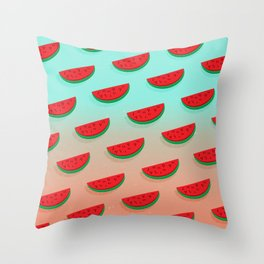 WaterMelon / Sandias Throw Pillow